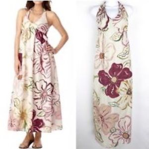 Old Navy Halter-Style Maxi Linen Dress. Size Small